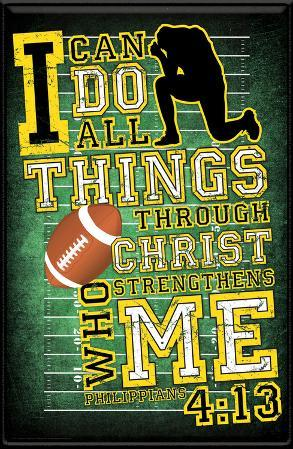 I Can Do All Things (Football) Plaque