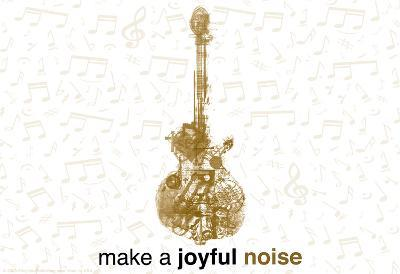 Make a Joyful Noise (Guitar) Laptop Skin Sticker