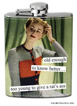 Anne Taintor - Rat's Ass Stainless Steel Flask