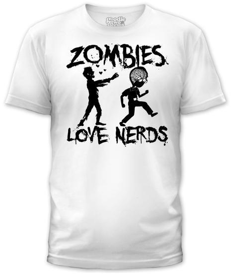 3d3ba176d Zombies Love Nerds (slim fit) T-shirts at AllPosters.com