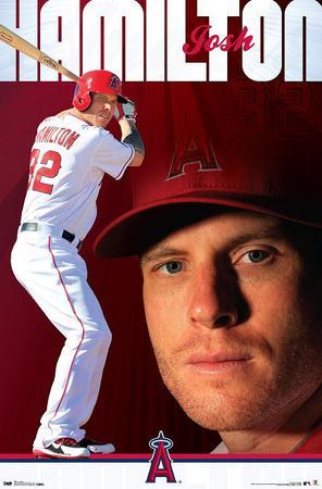 Josh Hamilton - Los Angeles Angels of Anaheim Baseball Poster