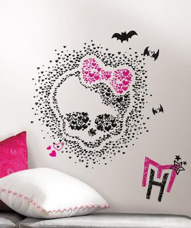 Monster High Heart Skullette Peel & Stick Wall Decals