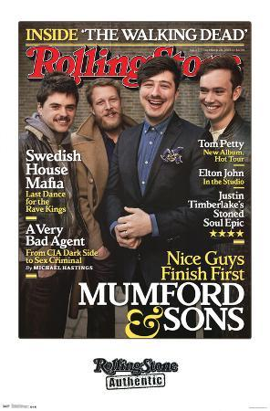 Mumford and Sons - Rolling Stone Cover Music Poster
