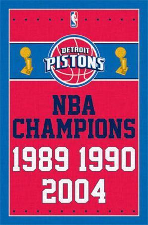 Detriot Pistons NBA Champions Sports Poster