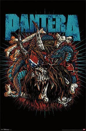 Pantera - Rocker Skull Music Poster