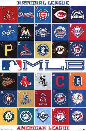 MLB 2013 Logos Sports Poster