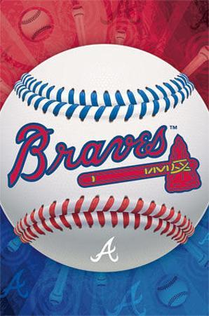 Atlanta Braves Logo Baseball Poster