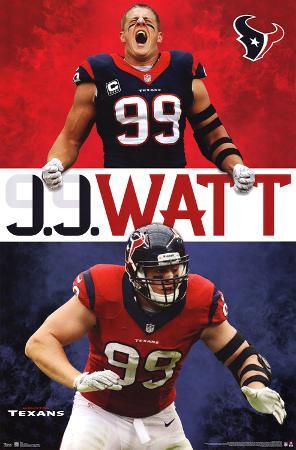 JJ Watt Houston Texans Football Poster