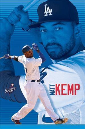 Matt Kemp Los Angeles Dodgers Baseball Poster