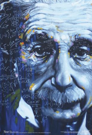 Albert Einstein Artistic Formulas Poster