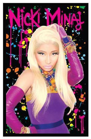 Nicki Minaj Blacklight Poster