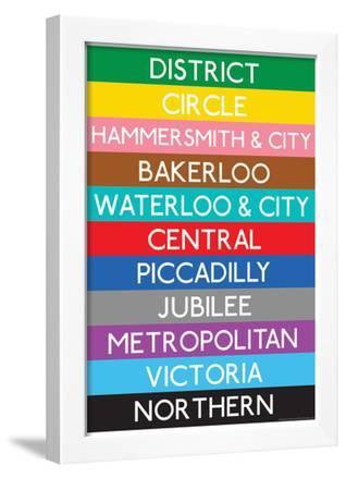 London Underground Tube Lines Travel Poster