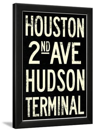 New York City Houston Hudson Vintage RetroMetro Subway Poster