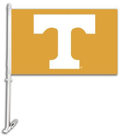NCAA Tennessee Volunteers Car Flag with Wall Bracket