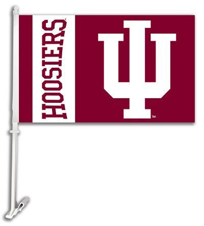 NCAA Indiana Hoosiers Car Flag with Wall Bracket
