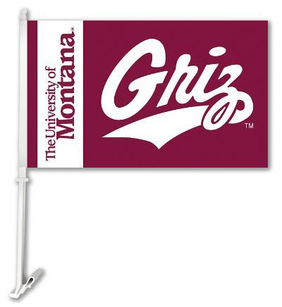 NCAA Montana Grizzlies Car Flag with Wall Bracket