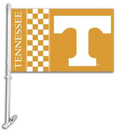 NCAA Tennessee Volunteers Car Flag with Wall Bracket