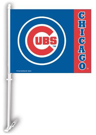 MLB Chicago Cubs Car Flag with Wall Bracket