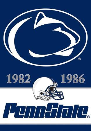 NCAA Penn State Nittany Lions 2-Sided Championship Years Banner with Pole Sleeve