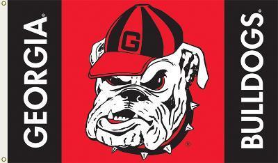 NCAA Georgia Bulldogs Flag with Grommets