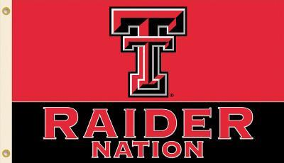 NCAA Texas Tech Red Raiders Flag with Grommets