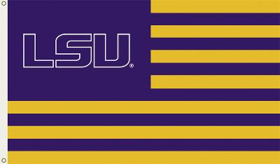 NCAA Louisiana State Tigers Flag with Grommets