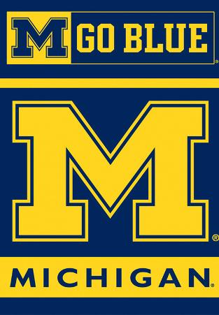 NCAA Michigan Wolverines 2-Sided House Banner