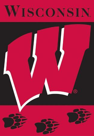 NCAA Wisconsin Badgers 2-Sided House Banner