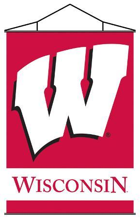 NCAA Wisconsin Badgers Indoor Banner Scroll