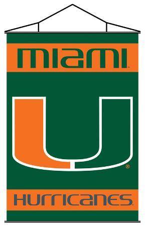 NCAA Miami Hurricanes Indoor Banner Scroll