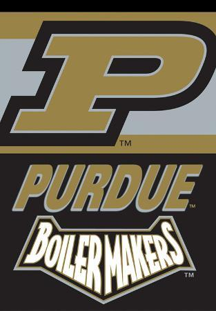 NCAA Purdue Boilermakers 2-Sided House Banner