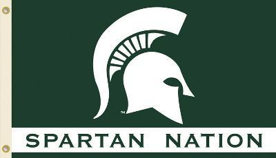 NCAA Michigan State Spartans Flag with Grommets