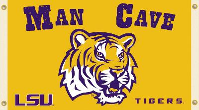 NCAA Louisiana State Tigers Man Cave Flag with Grommets
