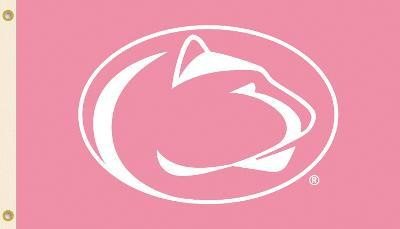 NCAA Penn State Nittany Lions Pink Design Flag with Grommets