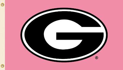 NCAA Georgia Bulldogs Pink Design Flag with Grommets