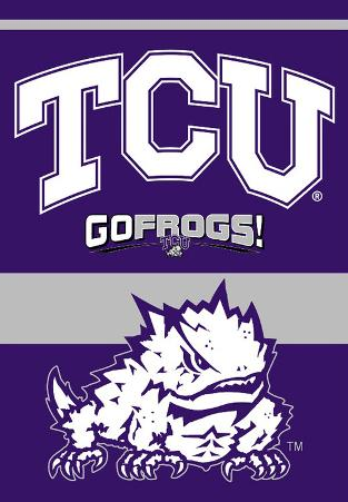 NCAA Texas Christian Horned Frogs 2-Sided House Banner