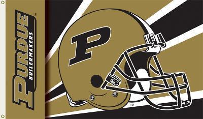 NCAA Purdue Boilermakers Helmet Flag with Grommets