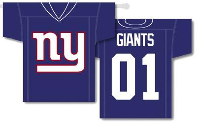 NFL New York Giants 2-Sided Jersey Banner
