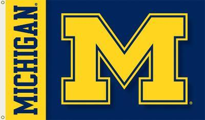 NCAA Michigan Wolverines 2-Sided Flag with Grommets