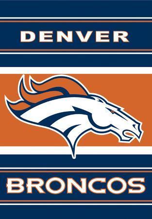 NFL Denver Broncos 2-Sided House Banner