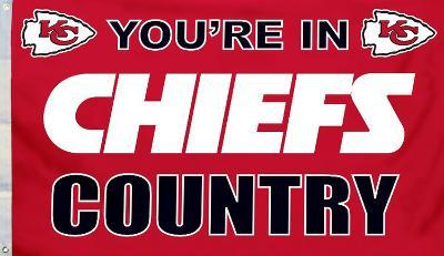 NFL Kansas City Chiefs Flag with Grommets
