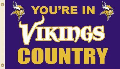 NFL Minnesota Vikings Flag with Grommets