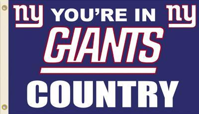 NFL New York Giants Flag with Grommets