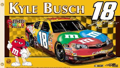 Nascar Kyle Busch #18 2-Sided Flag with Grommets