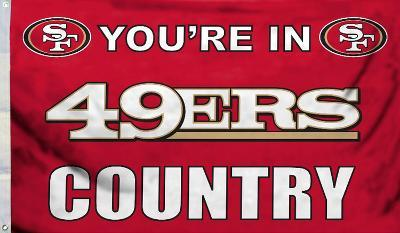 NFL San Francisco 49Ers Flag with Grommets