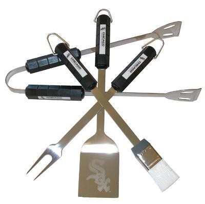 MLB Chicago White Sox Four Piece Stainless Steel BBQ Set