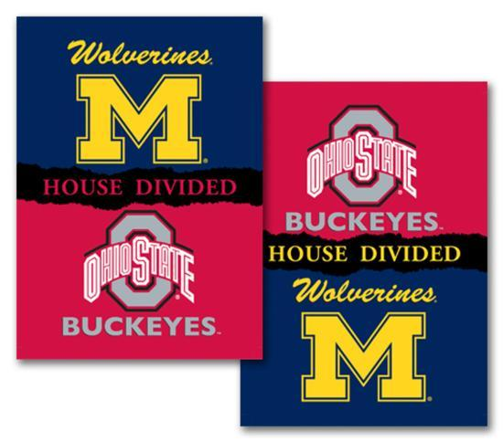 Ncaa Michigan Ohio State 2 Sided House Divided Rivalry Banner Flag Allposters Com