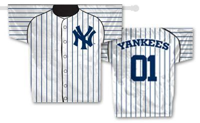 MLB New York Yankees 2-Sided Jersey Banner