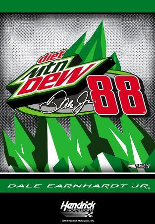 Nascar Dale Jr. #88 Mtn. Dew 2-Sided House Banner