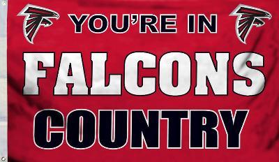NFL Atlanta Falcons Flag with Grommets